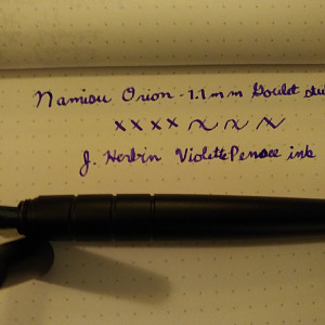 1.1 mm Stub nib from Goulet Pens