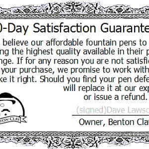 30-Day Pen Guarantee