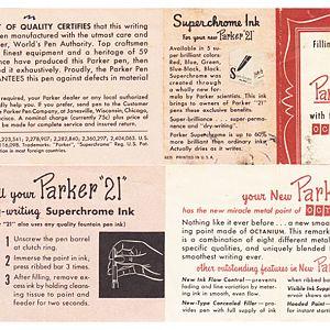 parker 21 instructions