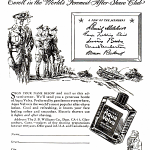 Williams ad, from LIFE 1941