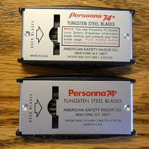 Personna 74 variations, back