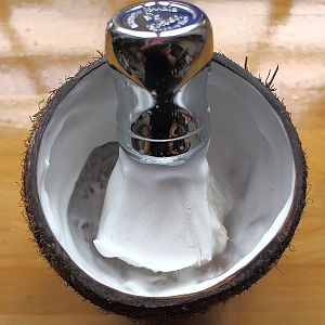 Coconut shaving bowl