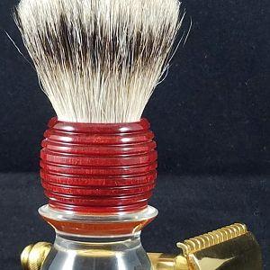 Homemade Beehive shaving brush