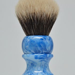 Wolf Whiskers Custom Shave Brush - 26mm Envy White