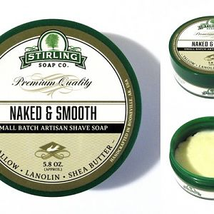 Stirling Soap Co. Naked & Smooth Shave Soap