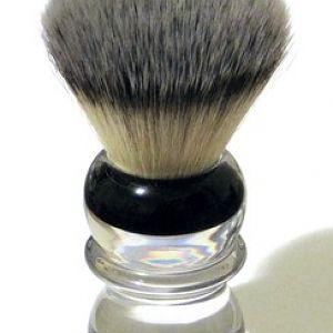 RazoRock BC Silvertip Plissoft Synthetic Shaving Brush - Lower Angled View