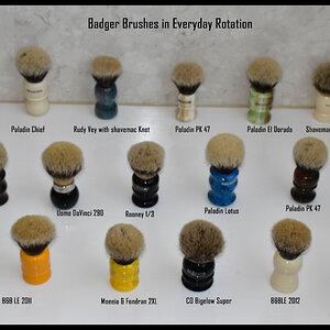 Badger brushes in rotation.jpg