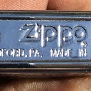 My Zippo Lighter.
