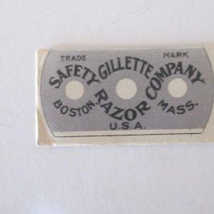 Vintage Gillette Blade